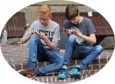 boys on phones